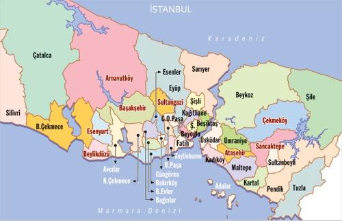 istanbul bölgeler